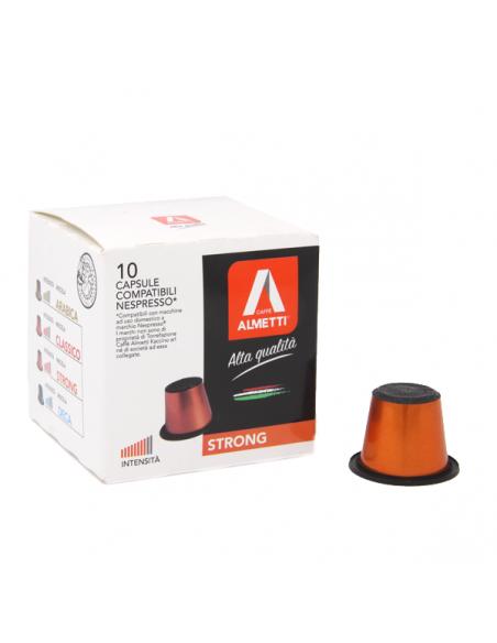 Capsule compatibili Nespresso* STRONG - Intenso